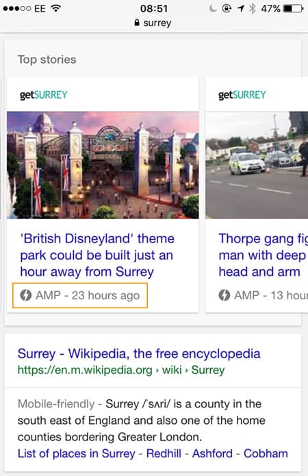Web Design Surrey - AMPlify your search results